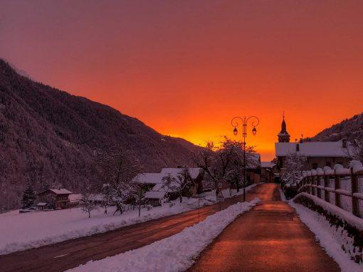 Le ciel est en feu à Villard