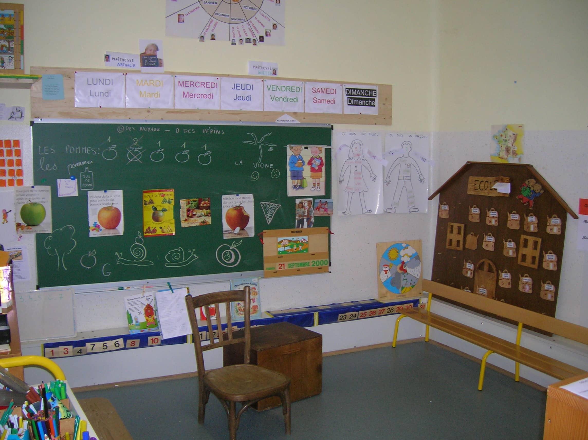classe maternelle villard