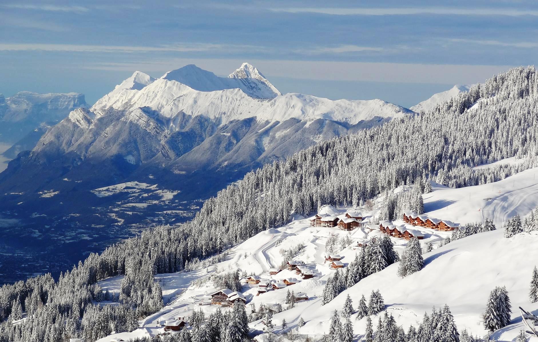 Pistes de ski de Villard sur Doron Les Saisies Bisanne 1500